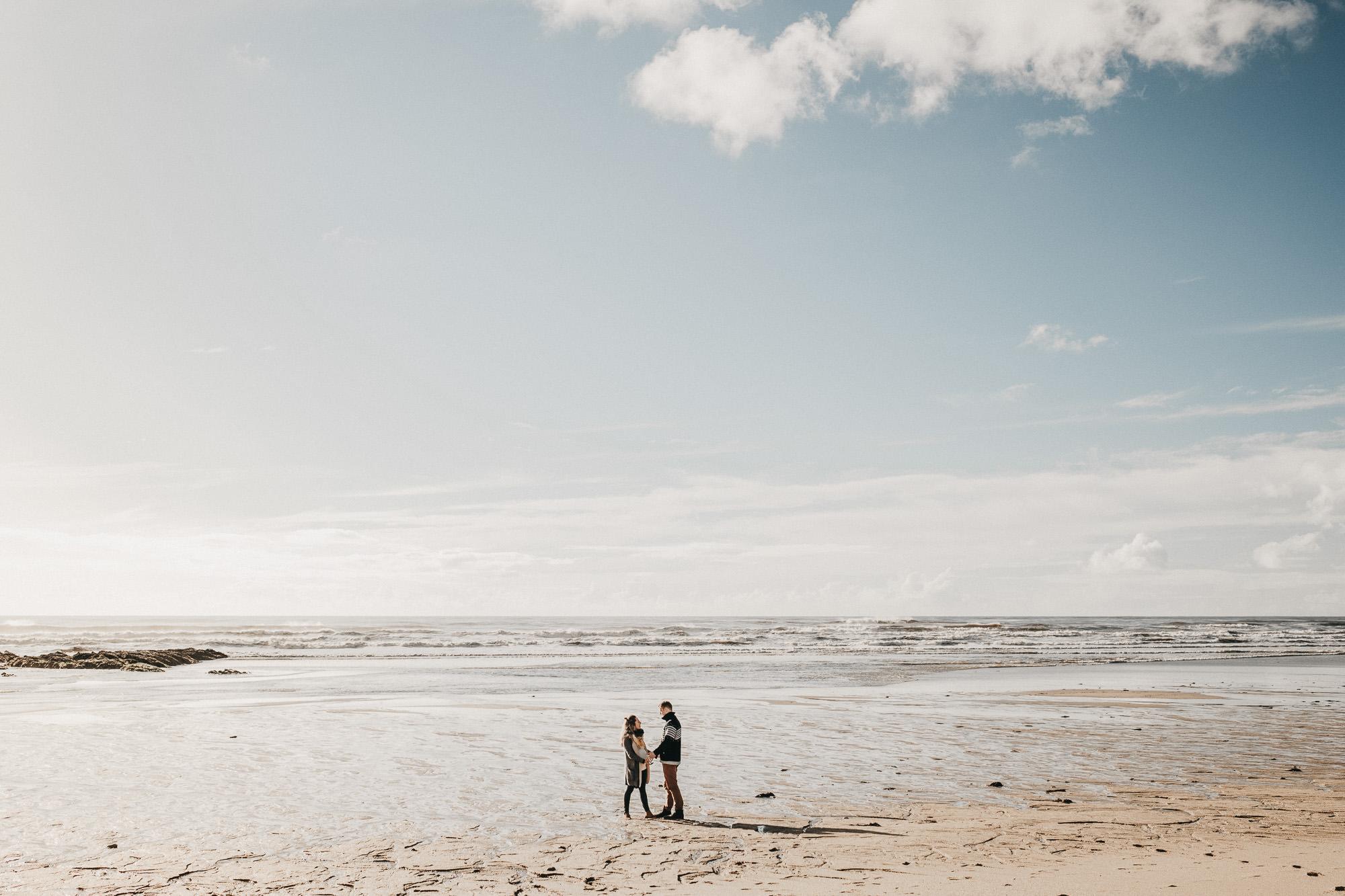 Seance couple en bord de mer a Lorient - Warren Lecart
