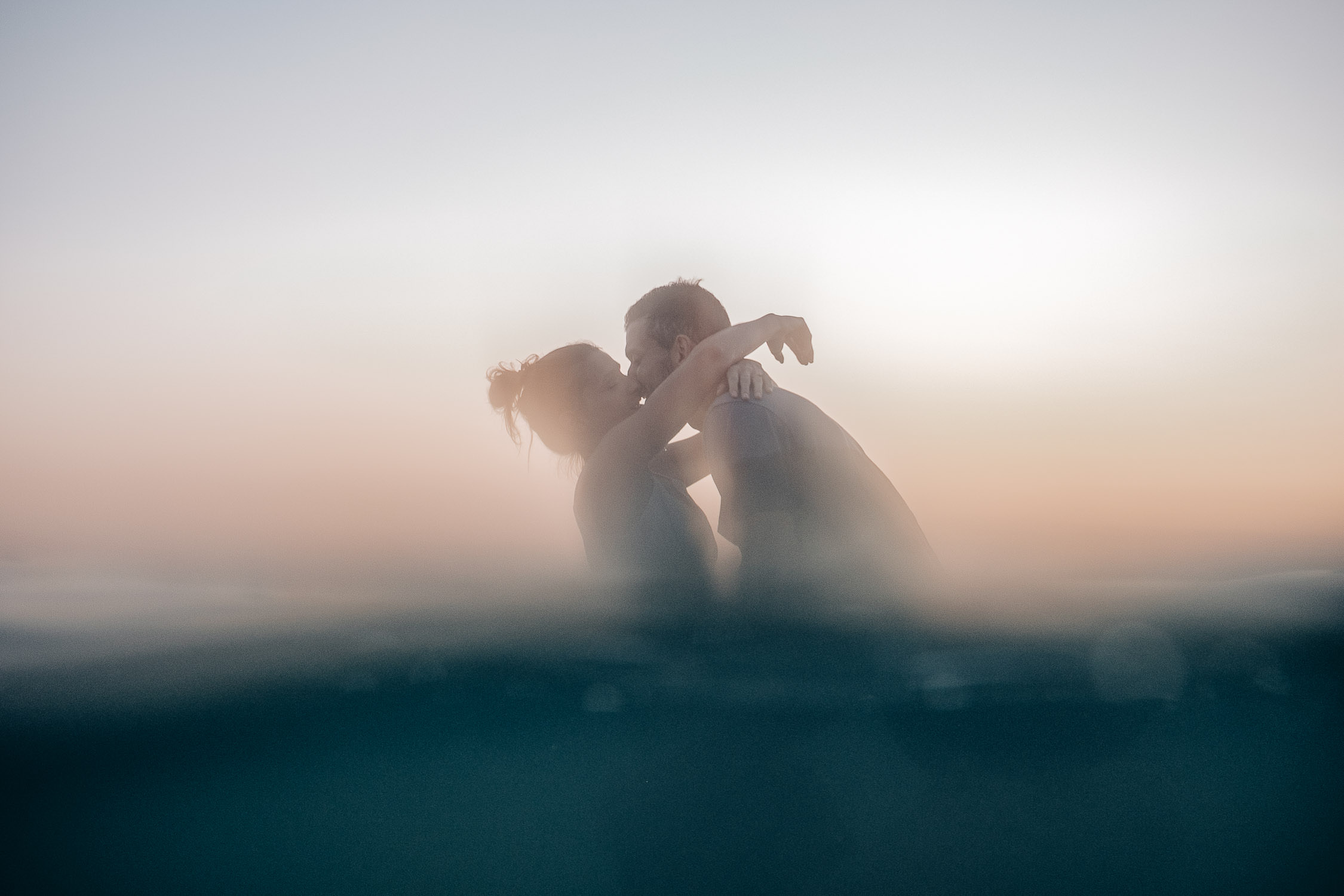 Séance engagement dans la mer à l'ile de Ré.
